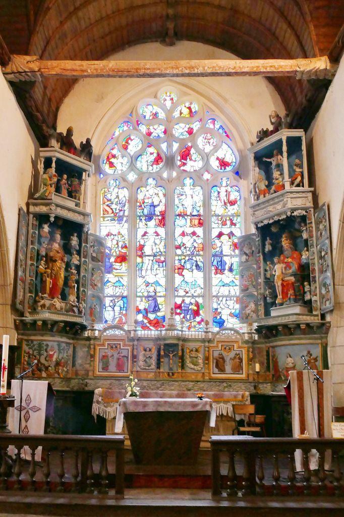 Retables de la Vierge et de la Trinité, Notre-Dame du Crann (Spézet), photographie lavieb-aile.