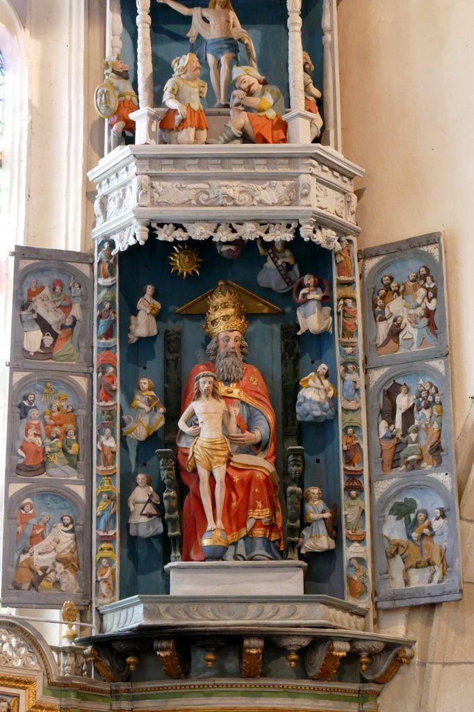 Retable de la Trinité, Notre-Dame du Crann (Spézet), photographie lavieb-aile.