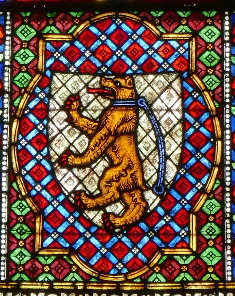 Verrière des Cordonniers (Schuhmacherfenster), nef de la cathédrale Notre-Dame de Fribourg-en-Brisgau. (1320). Photographie lavieb-aile.