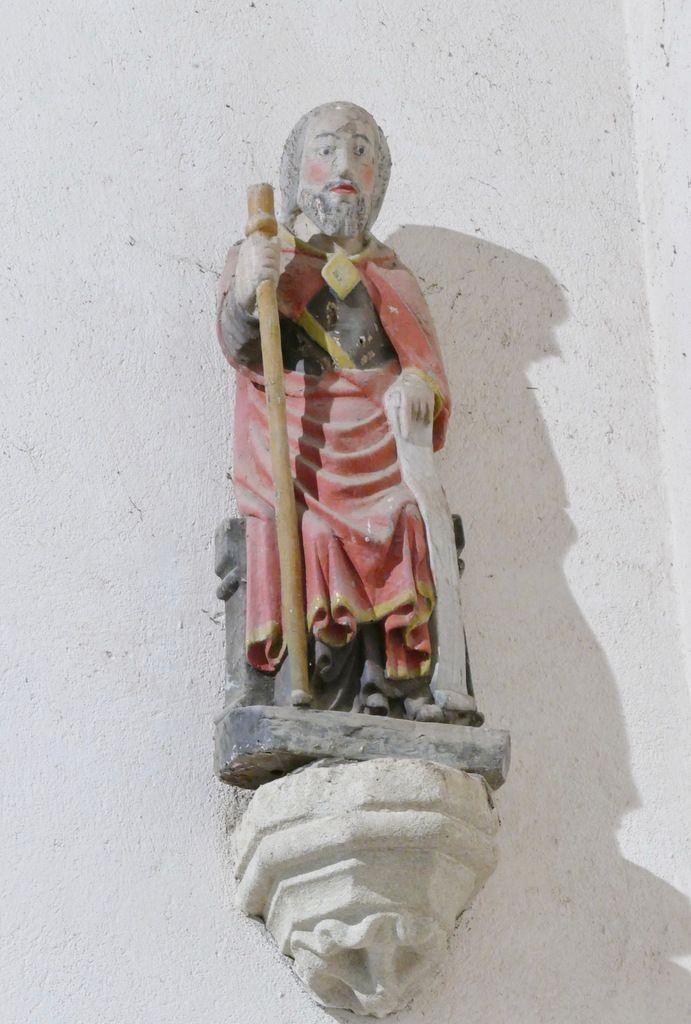 Saint Jacques, statue en bois polychrome du XVIe siècle, photographie lavieb-aile.