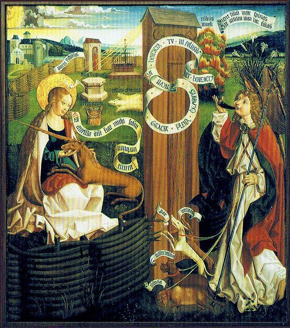 Erfurt Church St. Crucis (also called Neuwerkskirche) Annunciation - as the hunt of the unicorn - Altarpiece (1500-19)