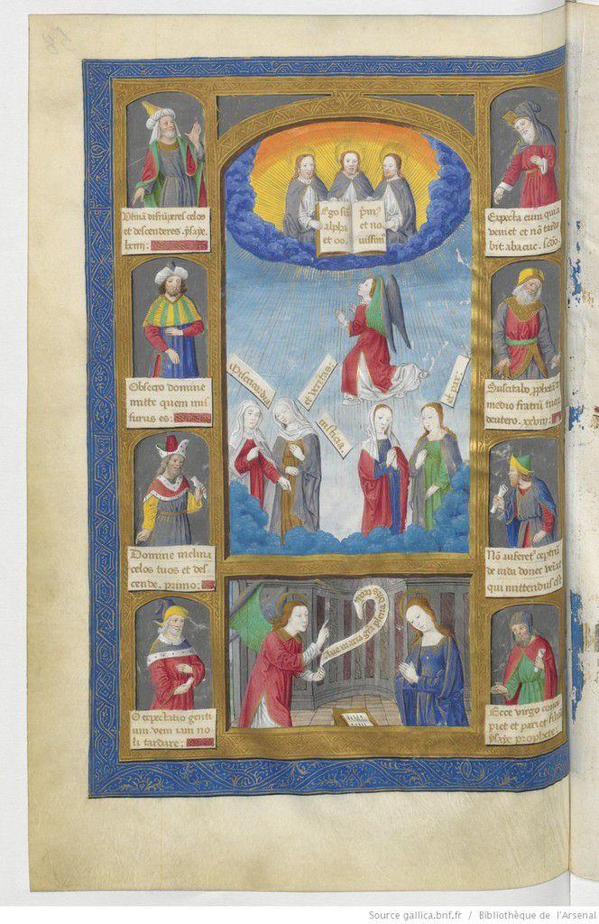 Bréviaire de René de Lorraine II, folio 58v, Arsenal Ms 601 Res, http://gallica.bnf.fr/ark:/12148/btv1b71006162/f156.vertical.r=