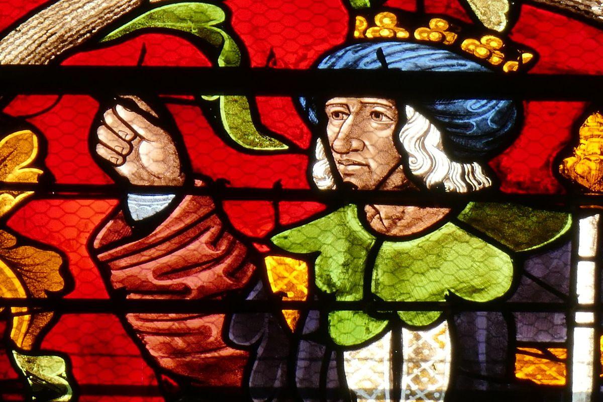 Lancette C, partie supérieure, baie 116, Arbre de Jessé, cathédrale de Sens, photographie lavieb-aile.