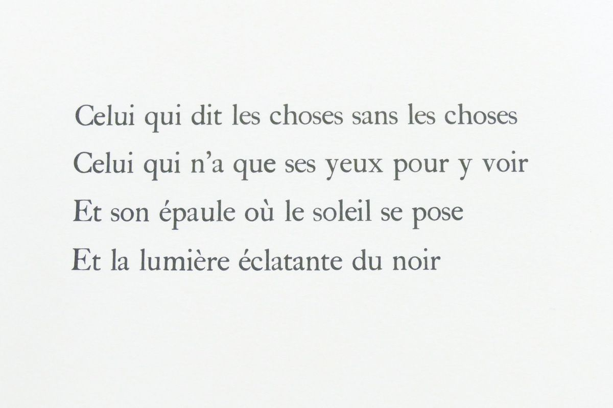 """Louis Aragon, in """"Celui qui dit les choses sans rien dire"""", Maeght éditeur, 1976. Photographie lavieb-aile lors de l'exposition de la Fondation Hélène et Édouard  Leclerc à Landerneau."""
