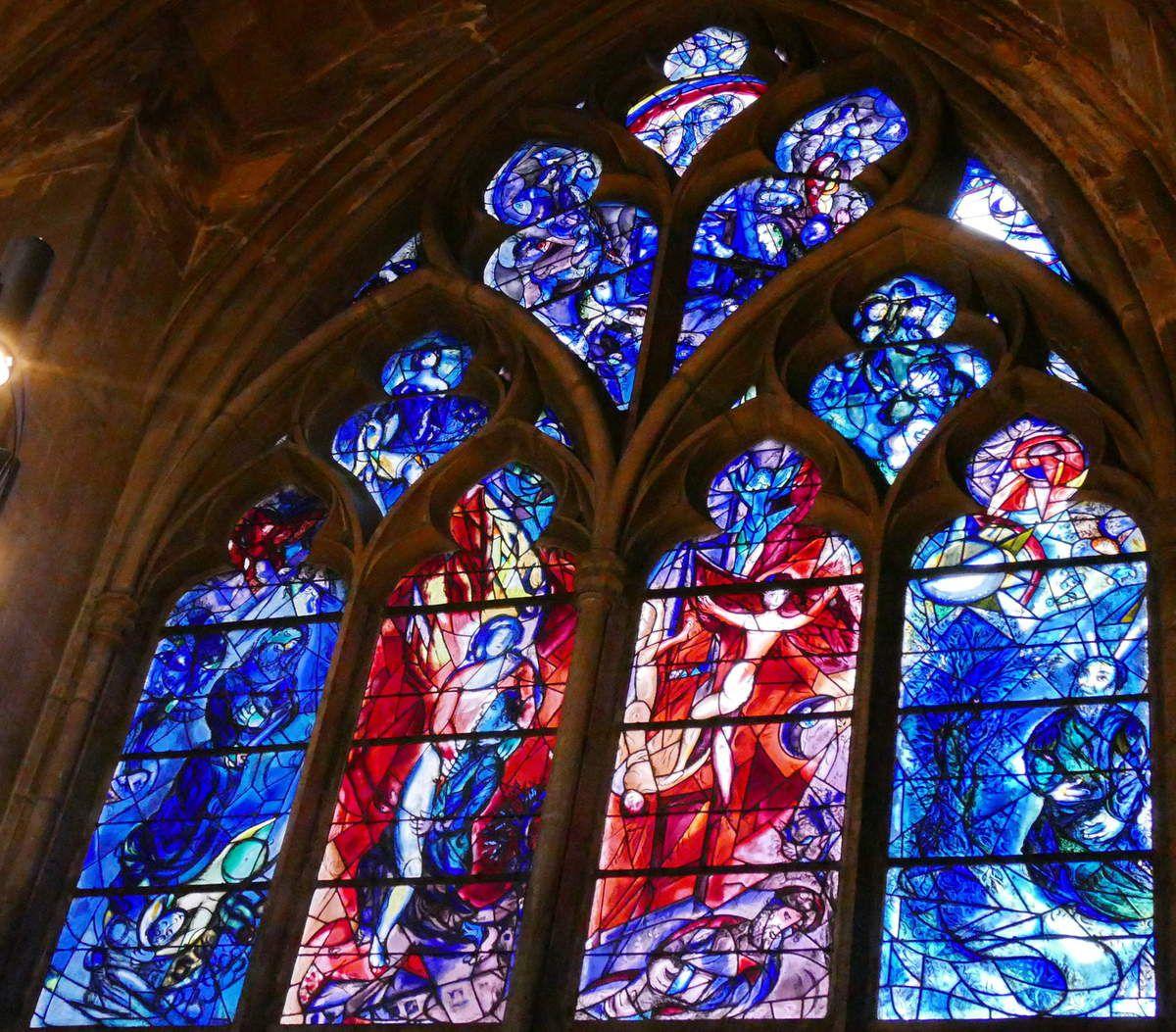 Marc Chagall, baie n°11, déambulatoire nord de la cathédrale de Metz, photographie lavieb-aile.