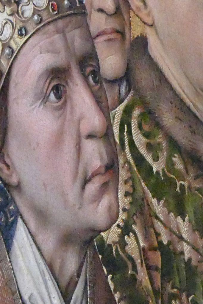 Un pape, Rogier van der Weyden,  Polyptyque du Jugement Dernier (1445-1450), panneau 2,  Hospices de Beaune, photographie lavieb-aile.