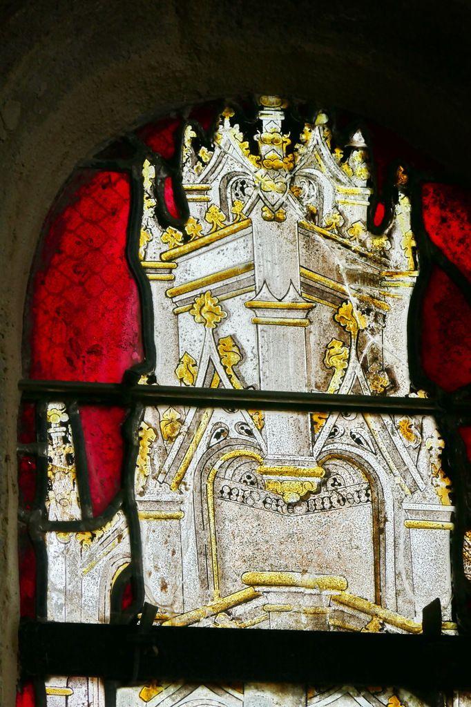 Dais de la lancette C  de la baie 2, église Notre-Dame de Brennilis, photographie lavieb-aile.