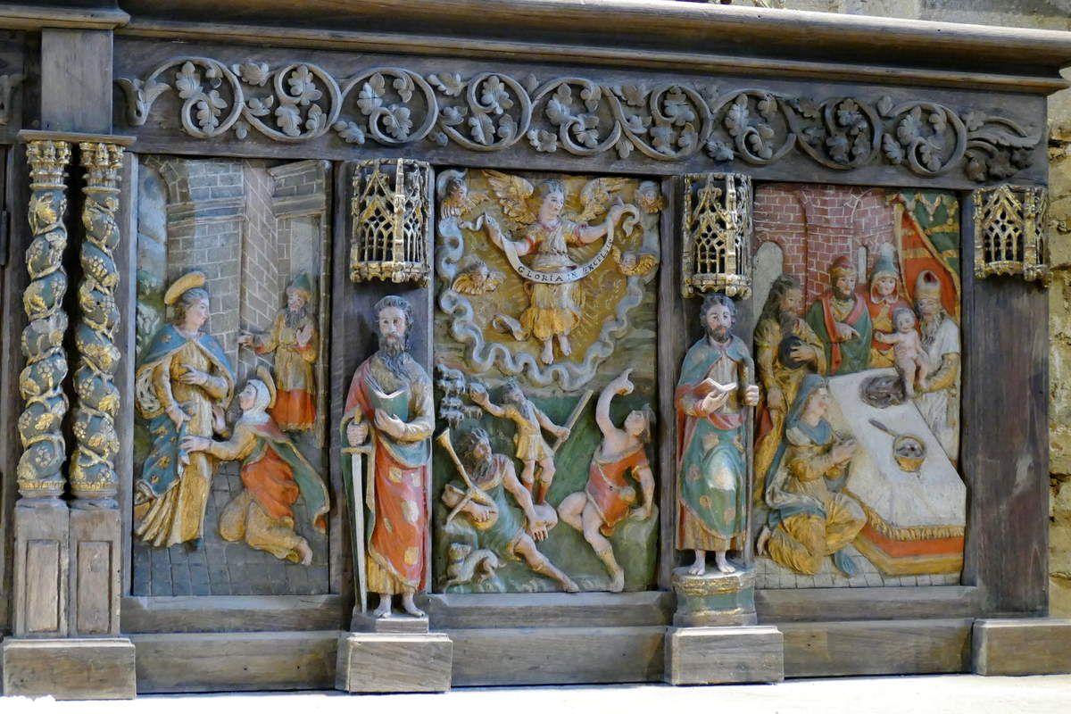 Partie droite du retable du maître-autel, église Notre-Dame de Brennilis, photographie lavieb-aile.