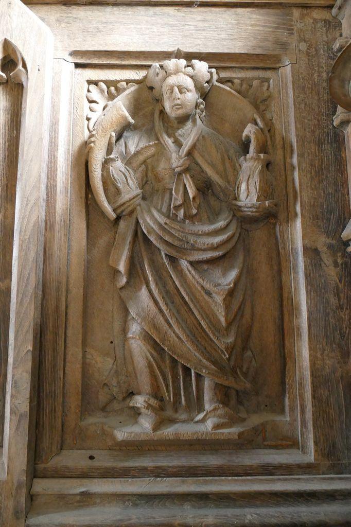 La Sibylle cimmérienne, autel du bas-côté Sud, église Notre-Dame de Brennilis. Photographie lavieb-aile.