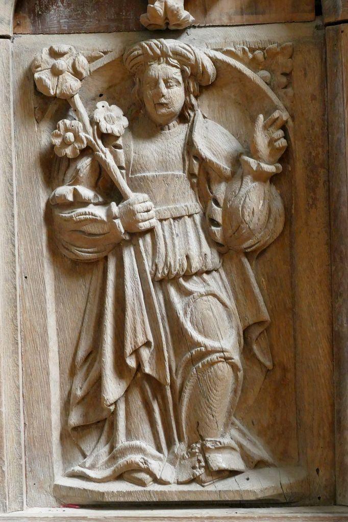La Sibylle Erythrée, autel du bas-côté Sud, église Notre-Dame de Brennilis. Photographie lavieb-aile.