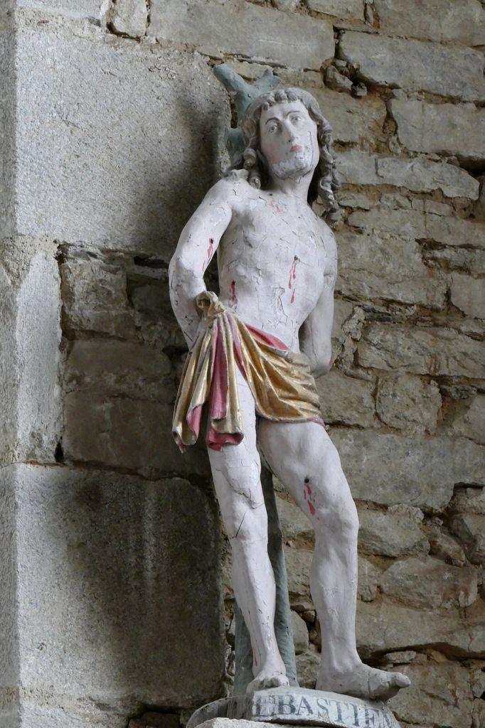Saint Sébastien, église Notre-Dame, Brennilis, photographie lavieb-aile.