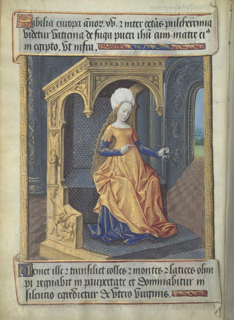 Sibylle Europe selon Baldini, les Heures de Louis de Laval (avec la page de typologie en regard), et Léonard Limosin vers 1535.