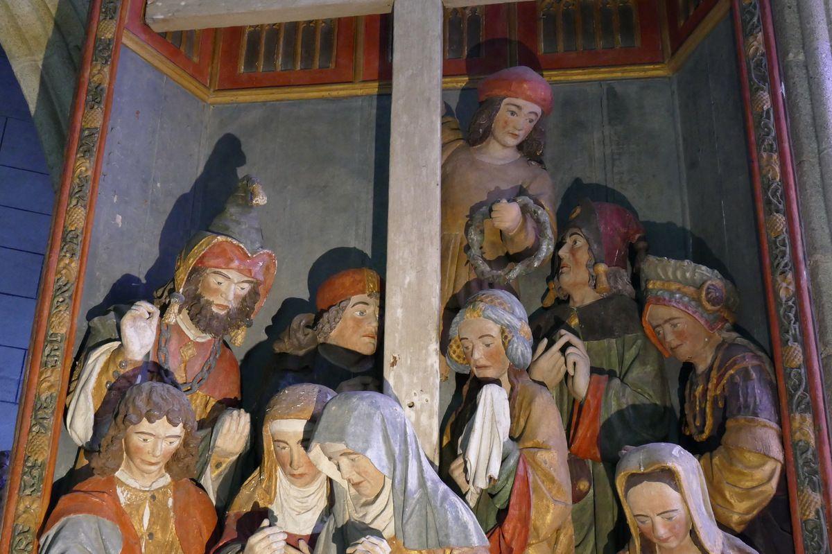 Retable de la Descente de Croix, église de Pencran. Photographie lavieb-aile.