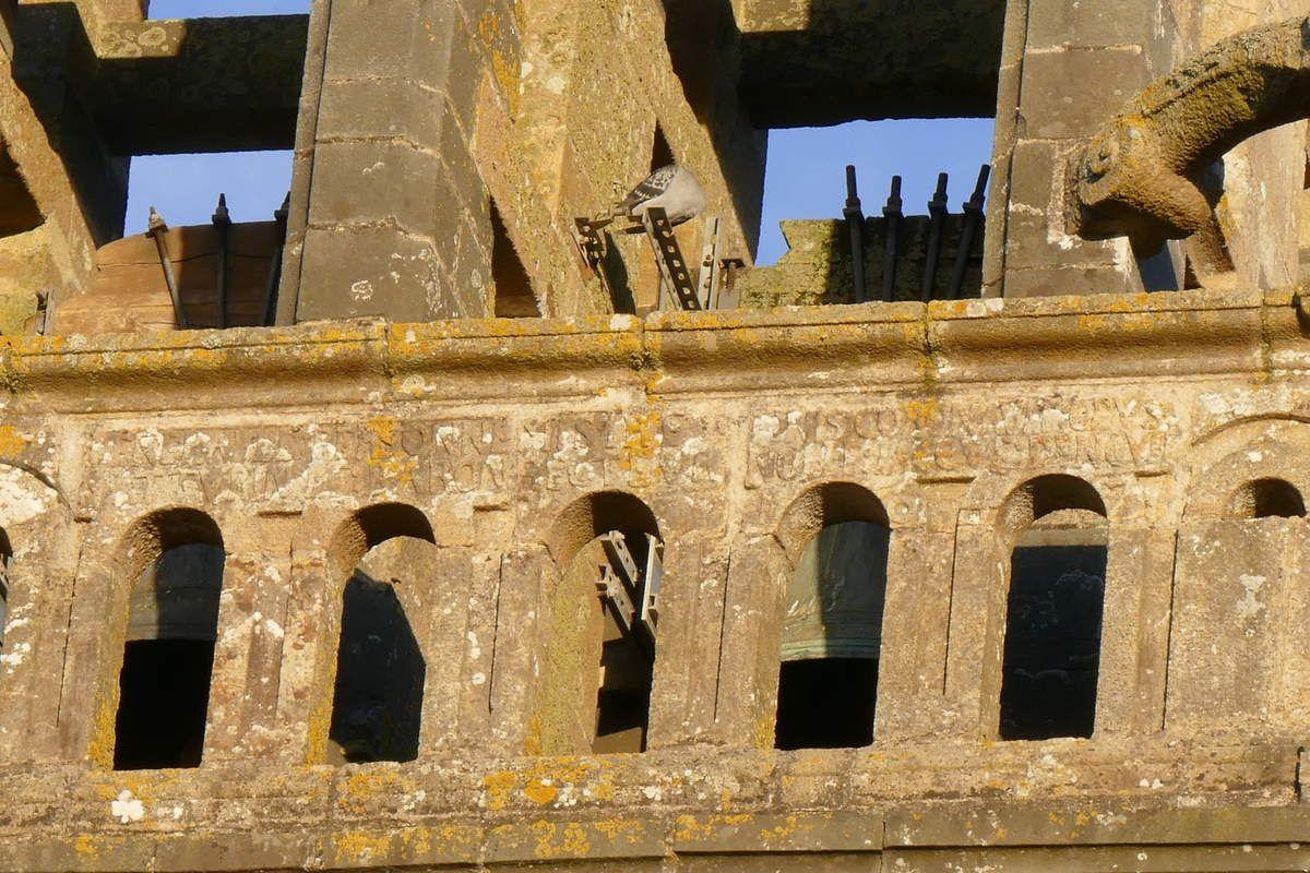 1647, face ouest de l'appui de la balustrade, église Saint-Sauveur, Le Faou. Photographie lavieb-aile.