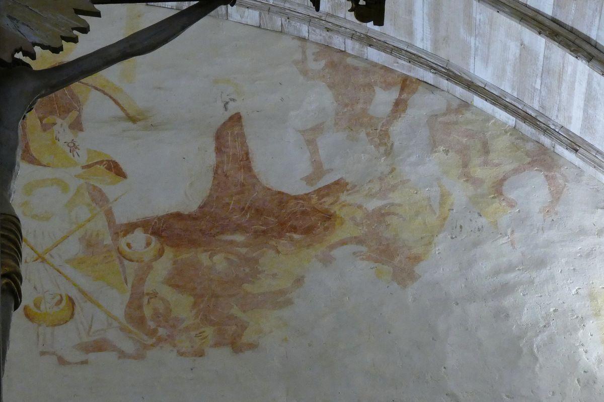 Le Jugement Dernier (XVe), mur diaphragme, église Saint-Salomon de La Martyre. Photographie lavieb-aile.