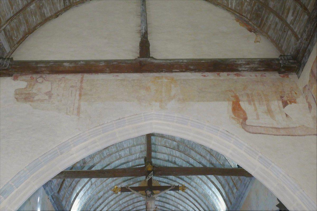 Revers du mur diaphragme, vu de la nef. Photographie lavieb-aile.