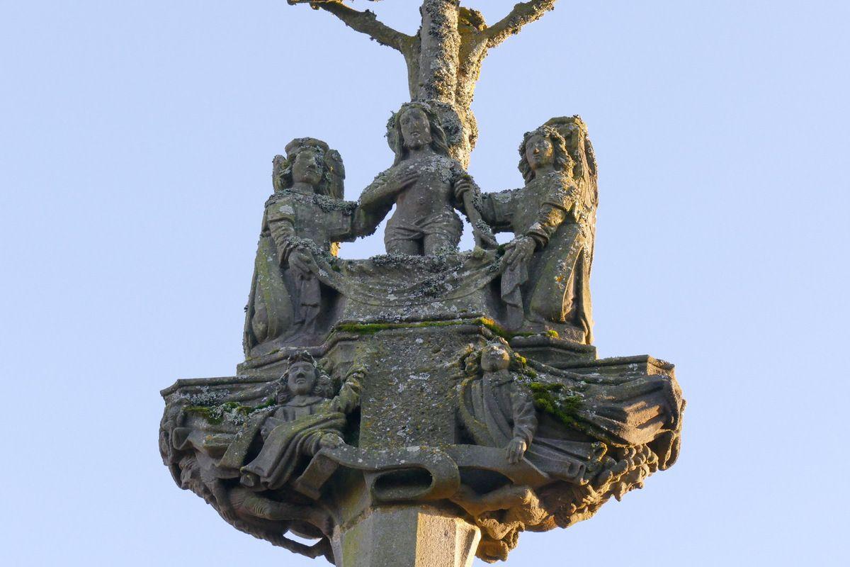 Calvaire, Porte triomphale, enclos paroissial, La Martyre. Photographie lavieb-aile.
