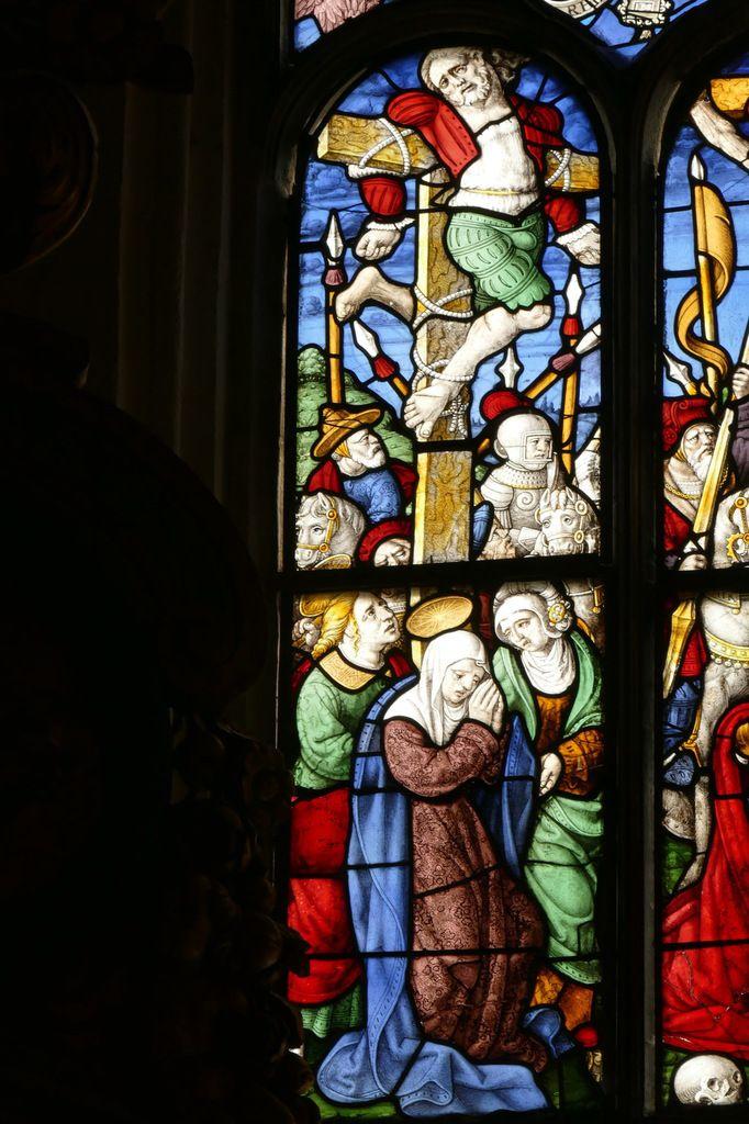 Lancette A, baie  0, chœur de l'église Saint-Salomon de La Martyre. Photographie lavieb-aile.