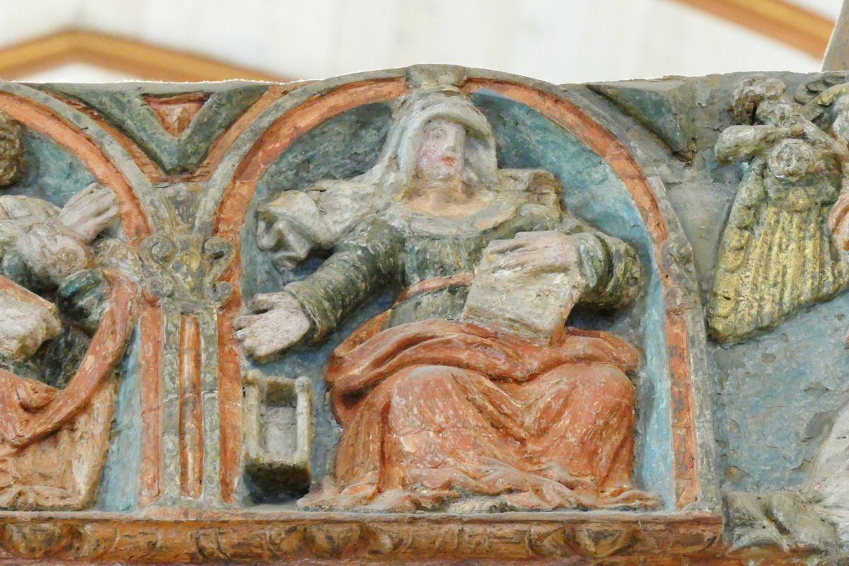 La Sibylle de Samos et son berceau. Poutre de Gloire (XVIe siècle) de l'église de Lampaul-Guimiliau. Photographie lavieb-aile 2016.