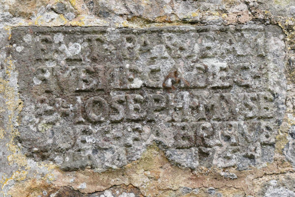 Inscription de 1756 de l'église de Dirinon. Photographie lavieb-aile 2017.