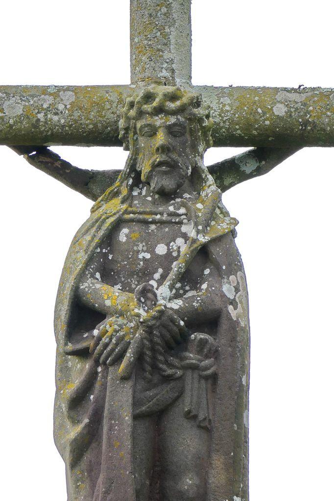 Ecce homo (Roland Doré), calvaire de l'église de Dinéault. Photographie lavieb-aile, février 2017.