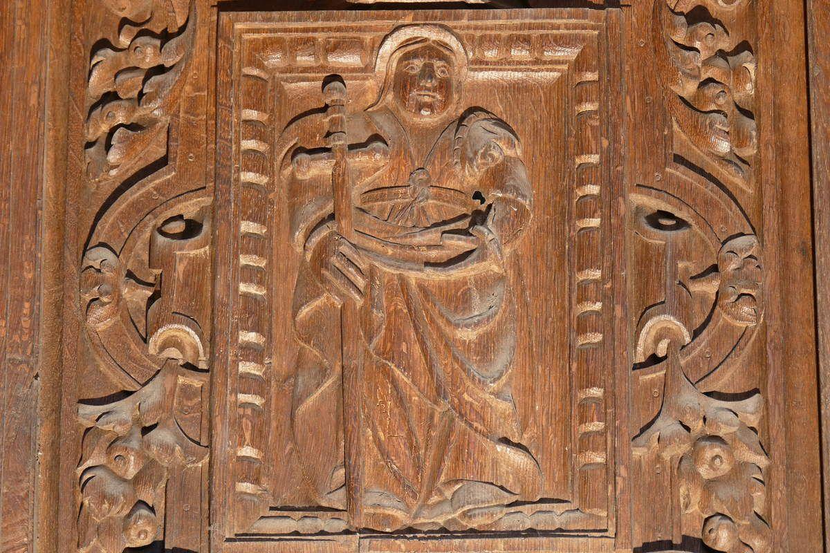 La Sibylle Phrygienne et l'étendard de la Résurrection, chancel de la chapelle de Saint-Herbot. Photographie lavieb-aile mars 2017.