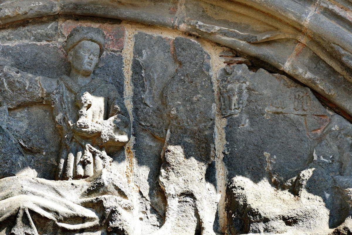 Tympan du porche occidental, kersanton, Atelier du Folgoët, (vers 1423-1433), Collégiale du Folgoët, photographie lavieb-aile avril 2017.