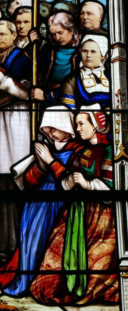 La Collégiale Notre-Dame du Folgoët. VII. Les vitraux du XIXe siècle : le vitrail du Couronnement.