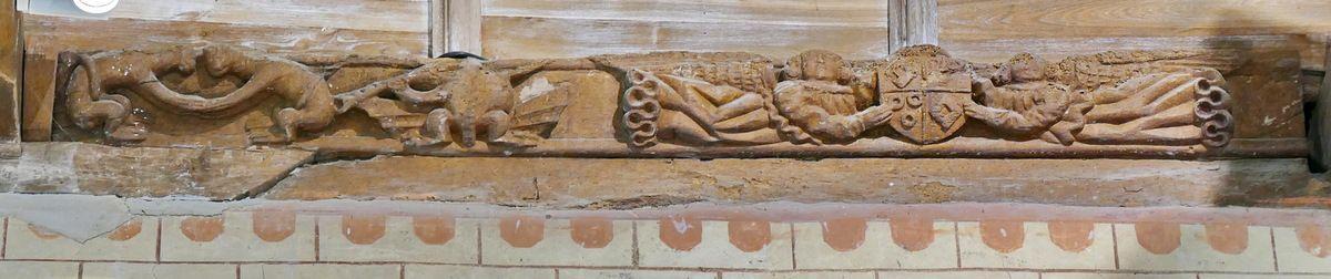 La sablière n°5, 1529, ancienne abbatiale Notre-Dame, Daoulas. Photographie lavieb-aile juin 2017.