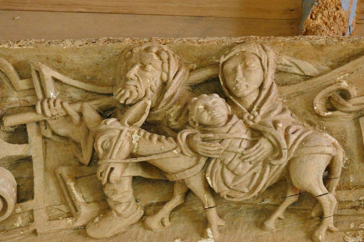 Troisième sablière  par le Maître de Pleyben v. 1575, quatrième travée du bas-coté nord, chapelle Sainte-Marie-du-Ménez-Hom.  Photographie lavieb-aile juillet 2017.