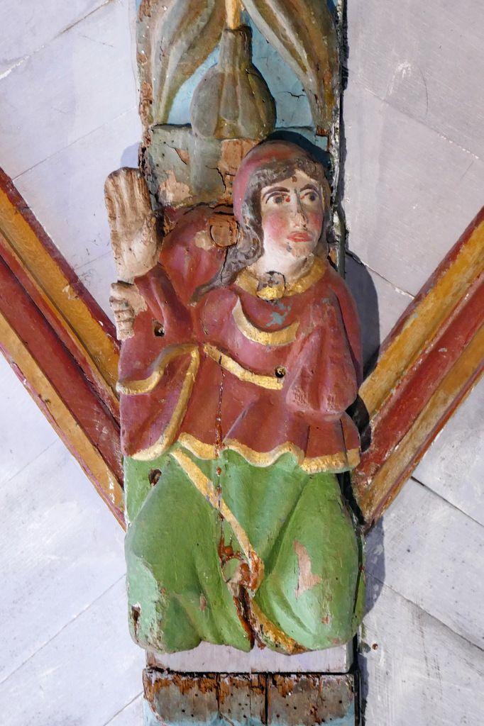 La Sibylle de Tibur,  voûte de la croisée du transept de l'église Saint-Germain de Pleyben, photographie lavieb-aile 2017.