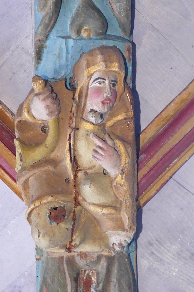 La Sibylle Cimmérienne,  voûte de la croisée du transept de l'église Saint-Germain de Pleyben, photographie lavieb-aile 2017.