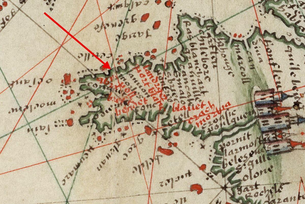 Manuel de pilotage à l'usage des pilotes bretons par G. Brouscon, 1548.  http://gallica.bnf.fr/ark:/12148/btv1b55002488s/f7.zoom