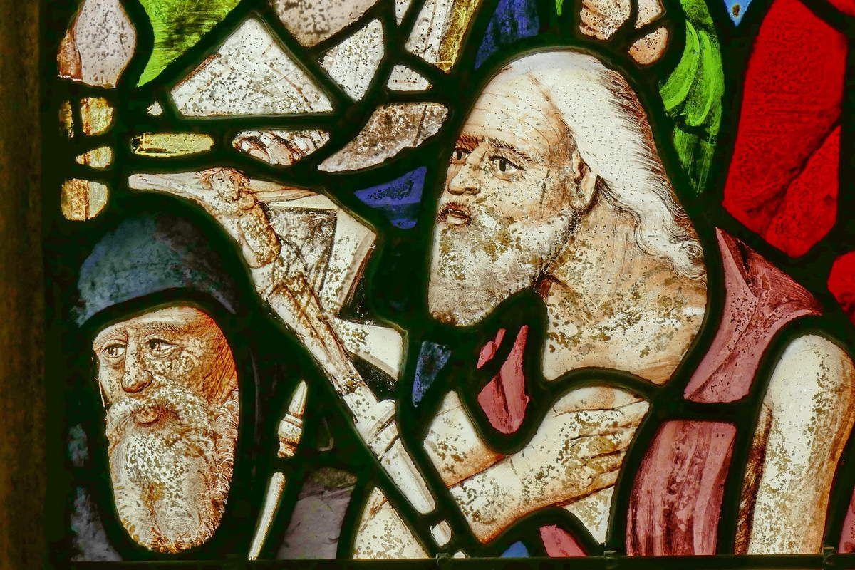 Maîtresse-vitre (baie 0) vers 1530 et 1550, église de Saint-Divy. Photographie lavieb-aile juillet 2017.