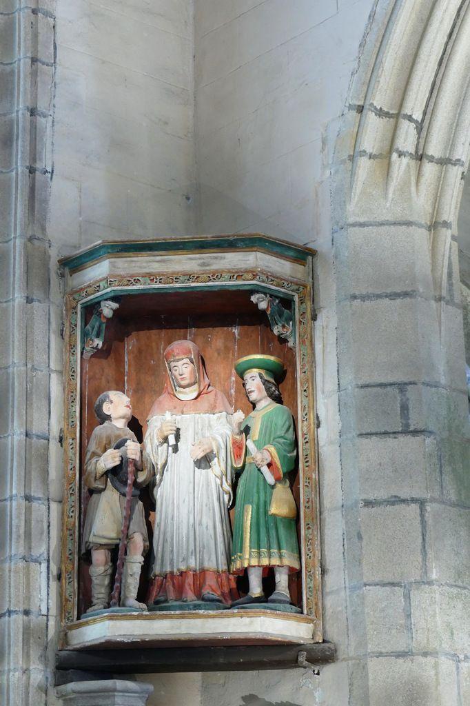 """Le retable de """"Saint Yves entre le Riche et le Pauvre"""" de l' église de La Roche-Maurice. Photographie lavieb-aile septembre 2017."""