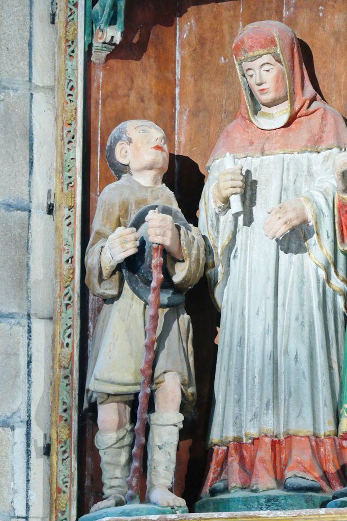 """Le Pauvre,  retable de """"Saint Yves entre le Riche et le Pauvre"""" de l' église de La Roche-Maurice. Photographie lavieb-aile septembre 2017."""
