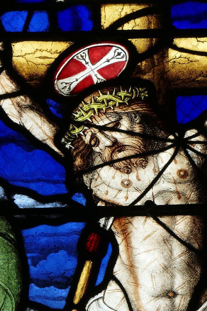 La Crucifixion (1539), maîtresse-vitre de l'église Saint-Yves de La Roche-Maurice. Photographie lavieb-aile septembre 2017.