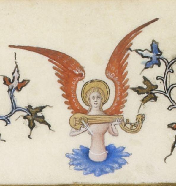 Folio 161v, Très Belles Heures de Notre-Dame (1375-1400),  enluminure du Maître du Parement de Narbonne (Jean d'Orléans),  Noces de Cana. Gallica.