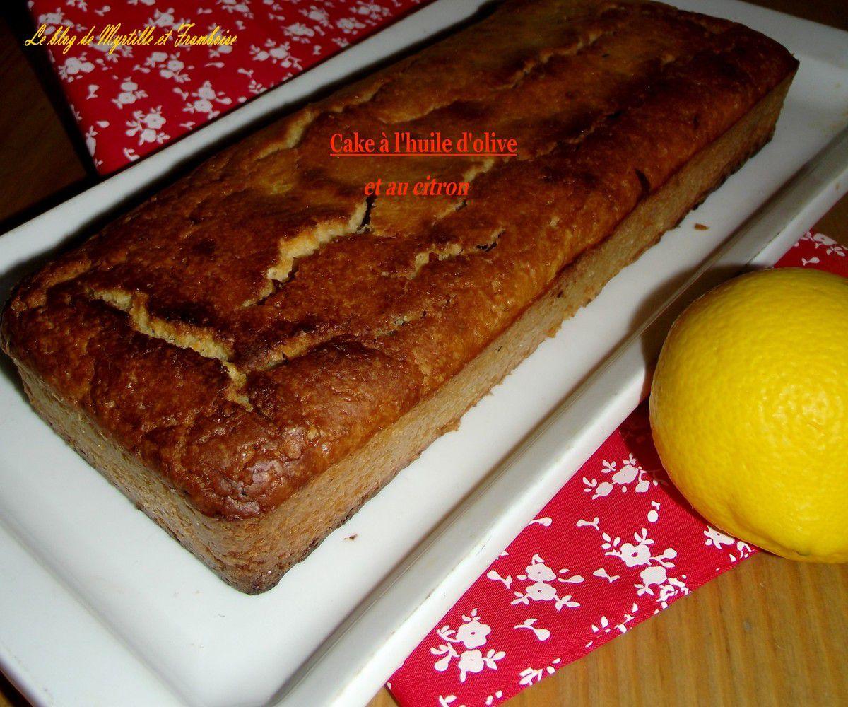 Cake à l'huile d'olive et au citron