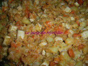 Ragoût de légumes au tofumé