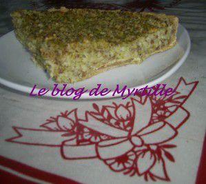 Tarte brocoli-cacahuètes