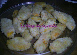 Escalopes de courge butternut en manteau de couscous