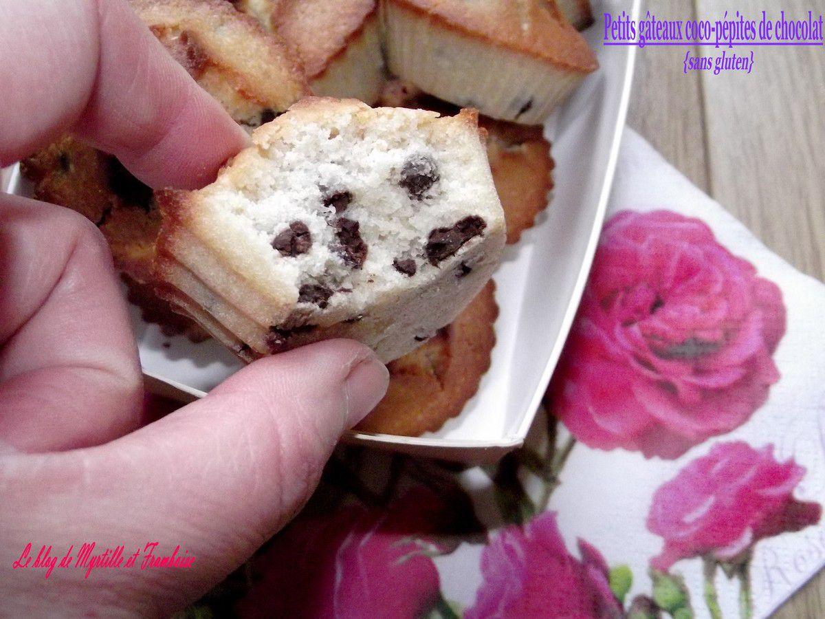 Petits gâteaux coco-pépites de chocolat sans gluten