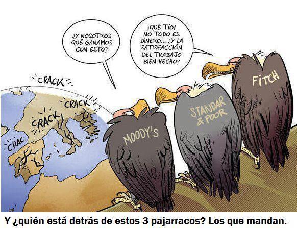 Los buitres económicos de Moody's congelan la calificación de España por miedo a Podemos