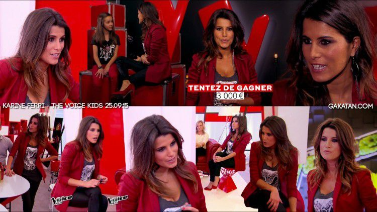 [REPLAY] KARINE FERRI SEXY DANS THE VOICE KIDS