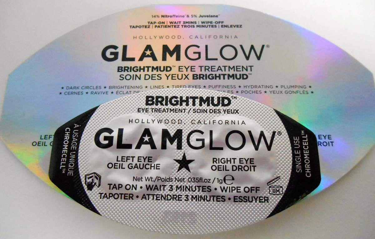 Test : GLAMGLOW Brightmud Eye Treatment Masque Soin contour des yeux