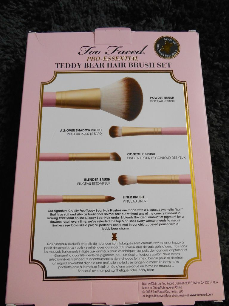 Too Faced et ses pinceaux Teddy Bear Hair.