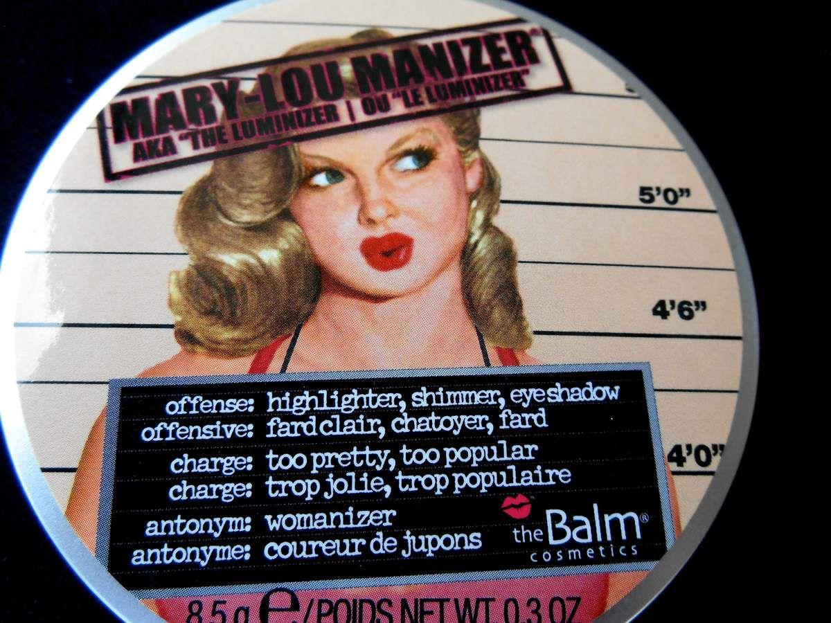 Mary-Lou Manizer AKA &quot&#x3B;the Luminizer&quot&#x3B; -The Balm-