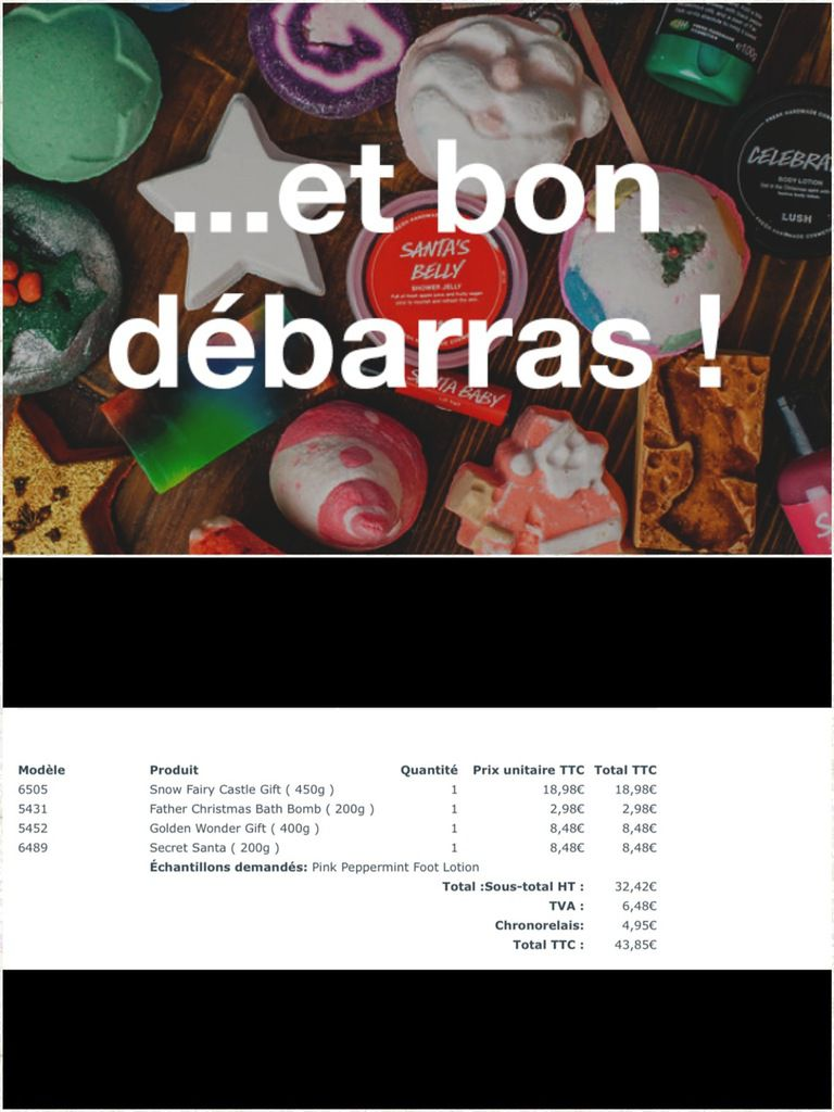 Bon plan chez Lush -50% collection de Noel !