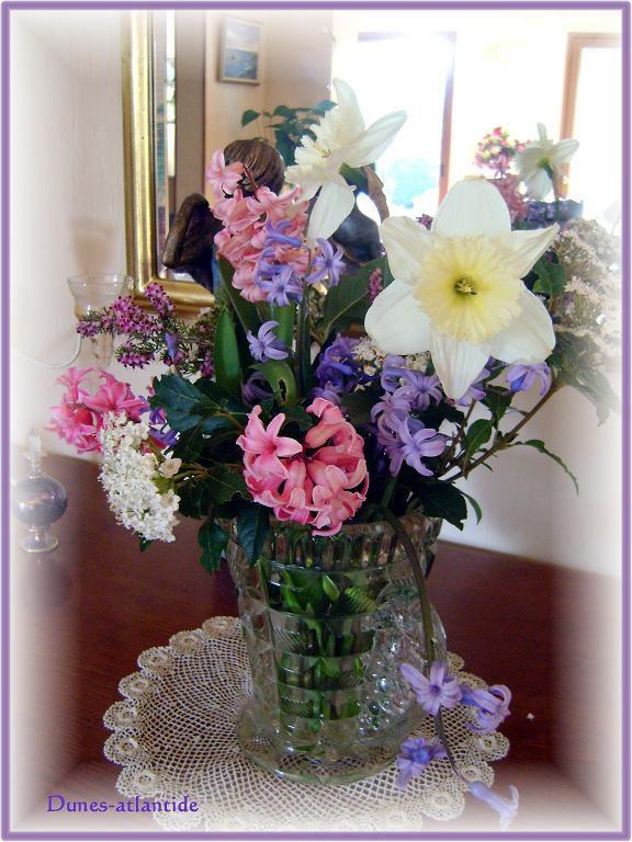 Bouquet  printanier  : les  fleurs du jardin